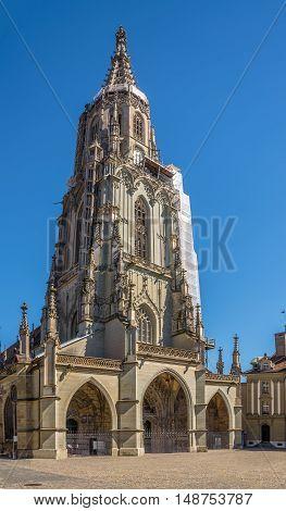 Bern Minster - Cathedral of Bern in Switzerland