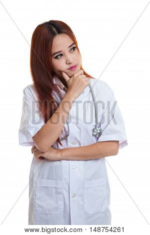 Thoughtful, Young Asian Female Doctor.