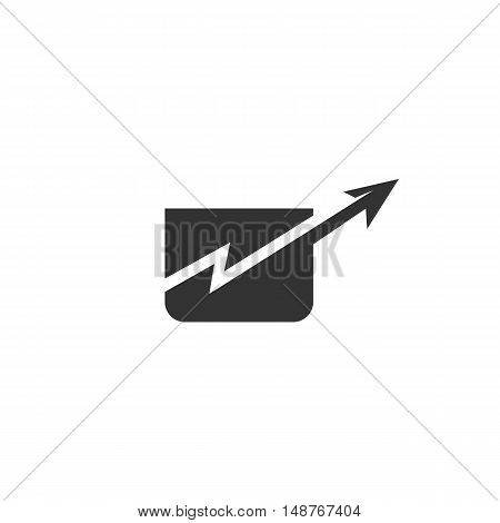 Graphic up Icon isolated on a white background. Graphic up vector logo - stock vector