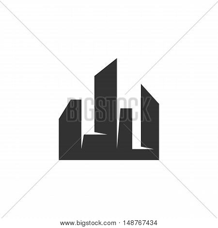 City Icon isolated on a white background. City vector logo - stock vector