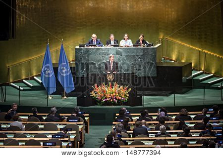 Us Secretary Of State John Kerry At Un General Assembly