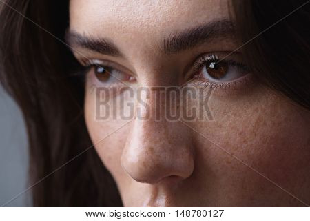 skincare concept, close up of an eyes of a woman