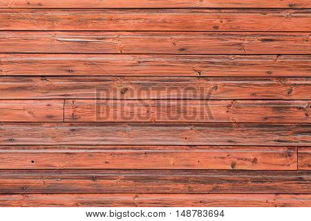 Old Red Wooden Wall, Detailed Background Photo