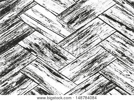 Distressed overlay wooden bark texture grunge vector background.
