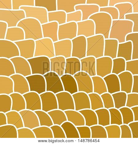 abstract vector stained-glass mosaic background - beige abd brown
