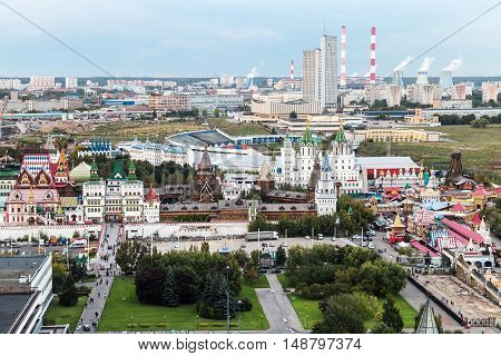 views of the Izmailovo Kremlin and Moscow regions. Russia