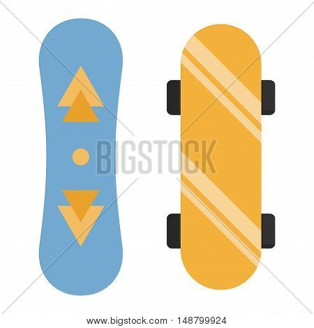 Skateboard icon extreme sport sign. Vector different board skateboard urban art silhouette. Street graphic deck skater skateboard active fun ride.