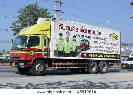 CHIANG MAI, THAILAND - JANUARY 5 2015:  Linfox Truck and Container For Tesco lotus hypermarket. On road no.1001, 8 km from Chiangmai Business Area.