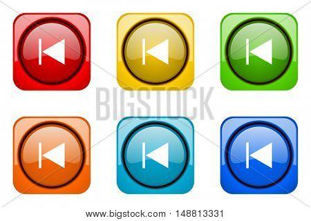prev colorful web icons