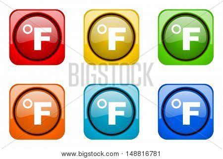 fahrenheit colorful web icons