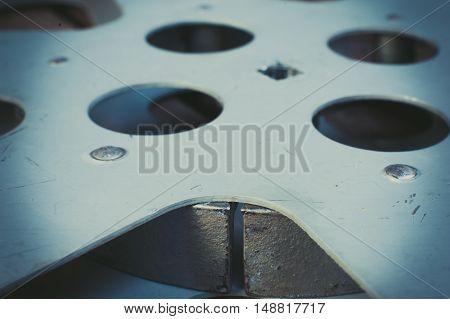Vintage Metal 16 Mm Movie Reel