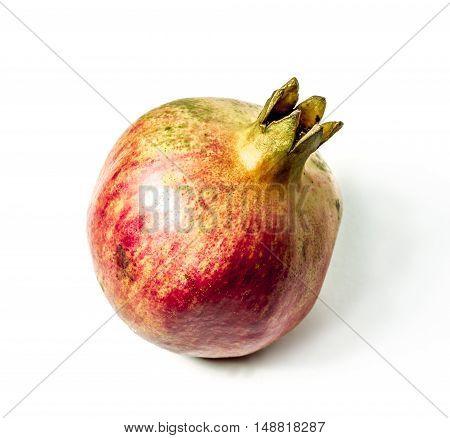 Fruit pomegranate shot isolated on white background