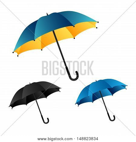 Umbrella. Collection of vector umbrellas isolated on white background