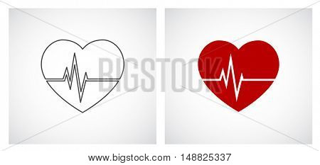 heart cardio outline icon