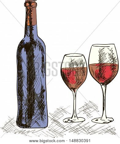 a very goog red wine on the table