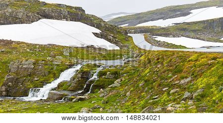 Landscape Around Aurlandsfjellet National Tourist Route In Norway
