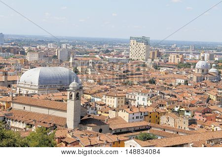 aerial view of Brescia, in northern Italy