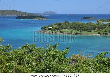 Island vista in the Caribbean near St. Johni