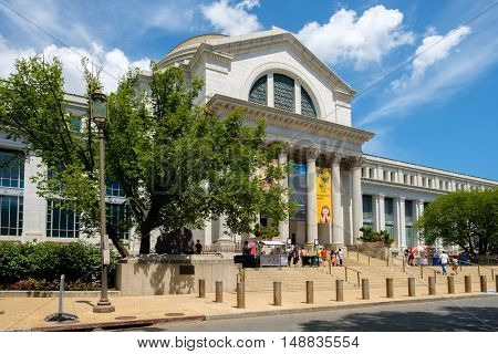WASHINGTON D.C.,USA - AUGUST 11,2016 :National Museum of Natural History at the National Mall in Washington D.C.