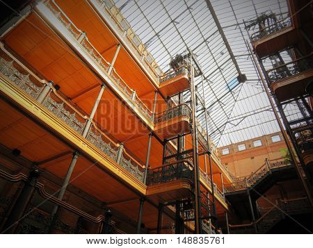 Bradbury Building is a national historic landmark and celebrated masterwork completed in 1893.