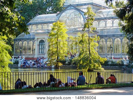 Cristal palace in the park