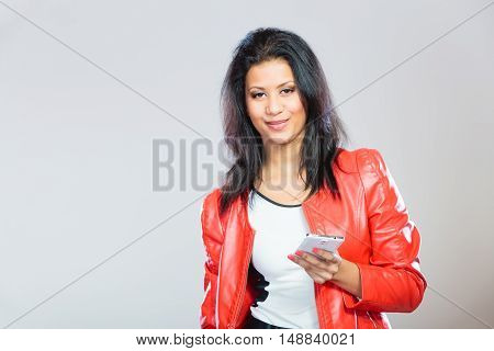 Beauty Girl With Mobile Phone