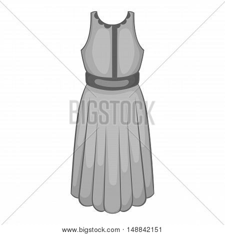 Womens dress icon in black monochrome style isolated on white background. Clothing symbol vector illustration
