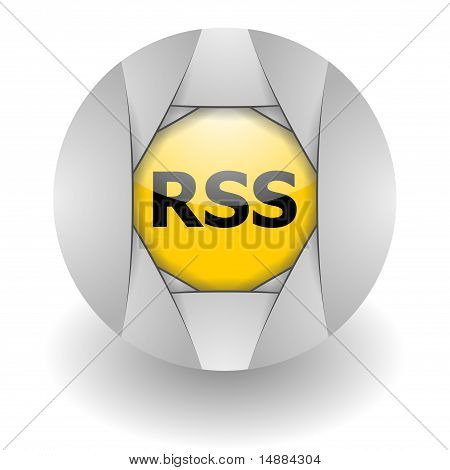rss steel glossy icon