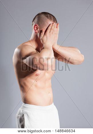Tired Muscular Man