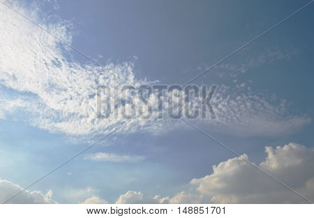 cloud floating on sky in sunny day