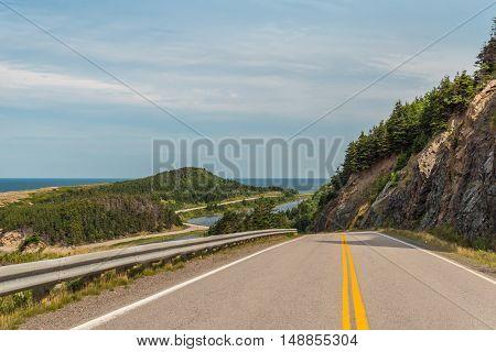 Cabot Trail Highway (Cape Breton Nova Scotia Canada)