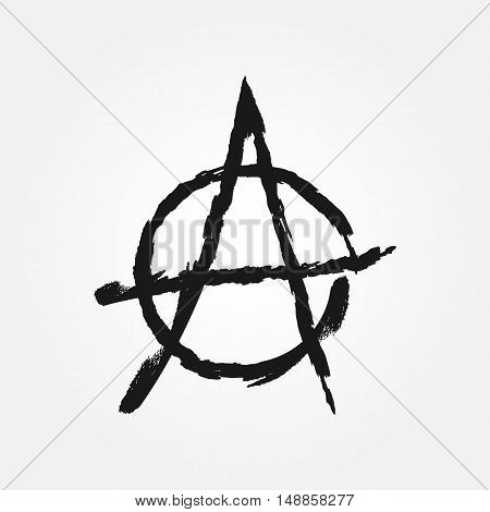 The symbol of anarchy. Grunge. Vector template.