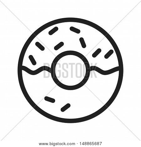 Doughnut, bakery, sweet icon vector image. Can also be used for coffee shop. Suitable for use on web apps, mobile apps and print media