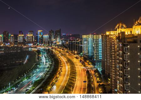 night view of guangzhou city,china.Guangzhou historically romanised as Canton,is the capital and largest city of Guangdong Province in southeastern China.