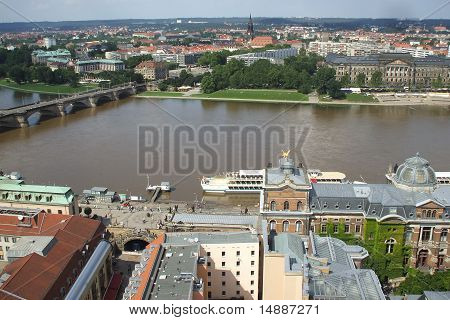 High View of a residential area from Dresden, Germany poster