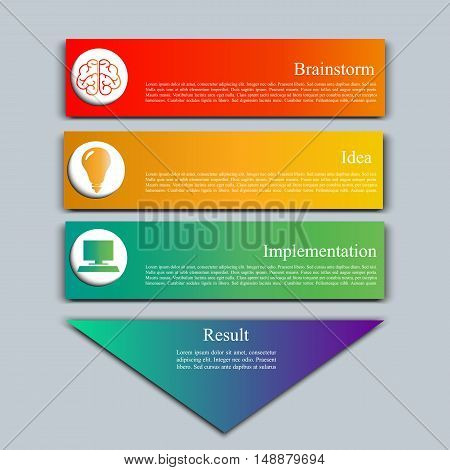 High quality original trendy Vector set of infographics. Templates for options