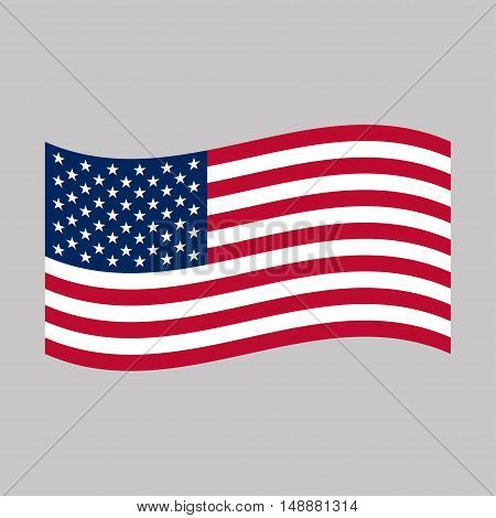 American flag. Flag usa sign. Isolated on white background