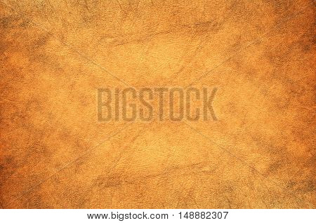 Natural brown leather texture and background .