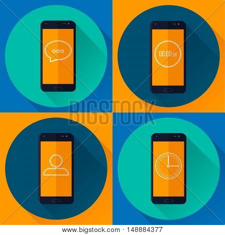 vector illustration of the applications on your mobile phone