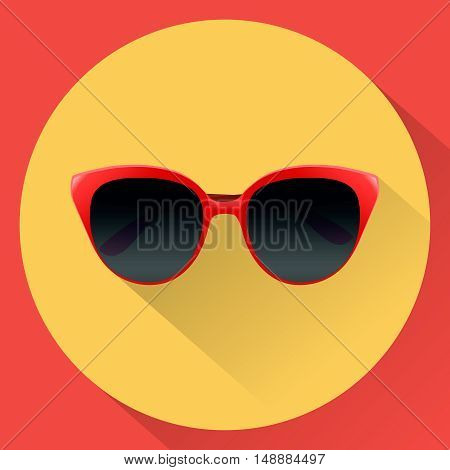 vector illustration sun glasses for women flat icon