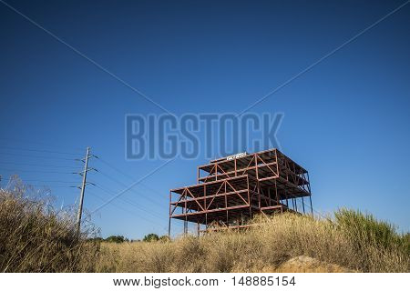 Abandoned Offices Construction In Sant Cugat Del Valles