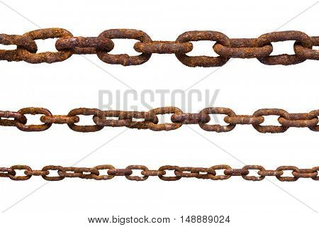 Metal chain isolated on white background