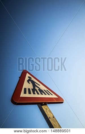 Traffic sign in a street in Sant Cugat del Valles Barcelona Spain