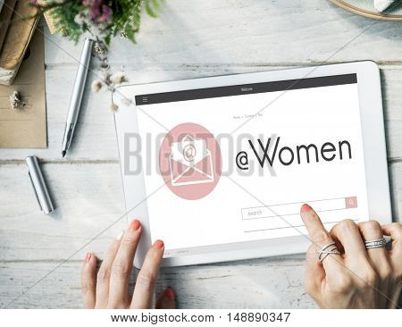 Women Female E-mail Letter Graphic Concept