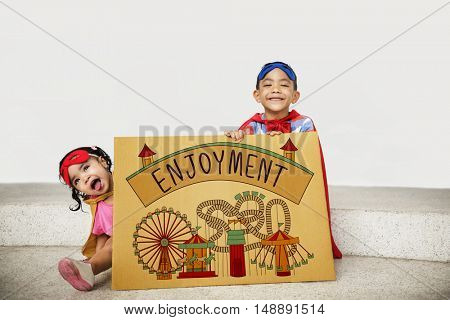 Kids Enjoyment Happiness Fun Graphic Concept