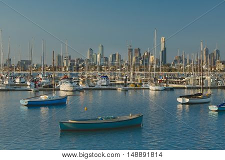 Melbourne city view from St. Kilda