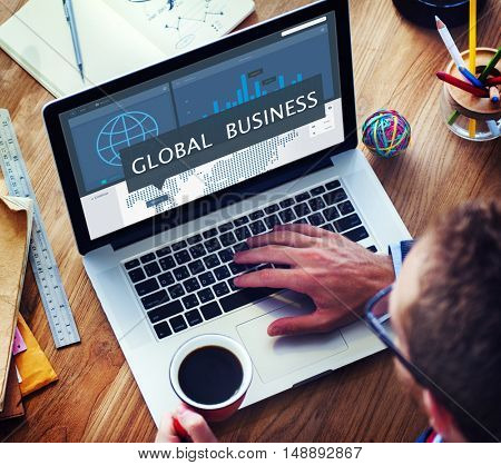 Economy Global Business Marketing Management Concept