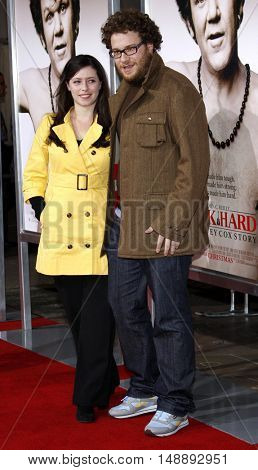 Lauren Miller and Seth Rogan at the World Premiere of
