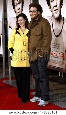 Lauren Miller and Seth Rogen at the World premiere of 'Walk Hard' held at the Grauman's Chinese Theater in Hollywood, USA on December 12, 2007.
