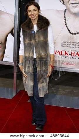 Justine Bateman at the World premiere of 'Walk Hard' held at the Grauman's Chinese Theater in Hollywood, USA on December 12, 2007.
